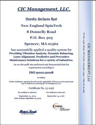 Quality Certification - NE Spin Tech